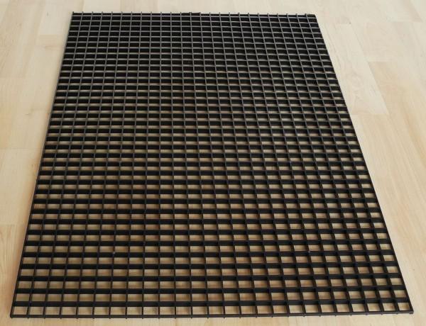 Lichtrasterplatte schwarz 60 x 40 cm, 14 x 14mm Lochabstand