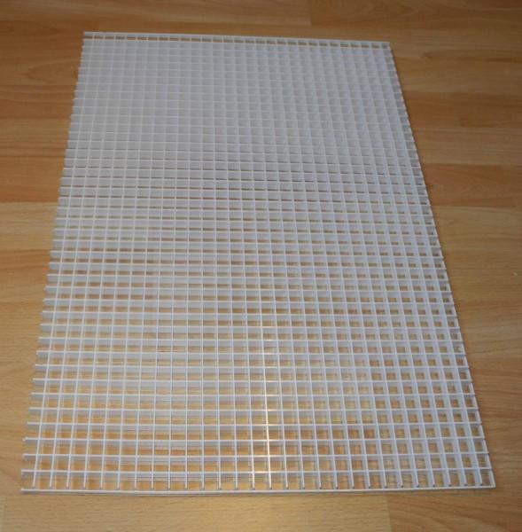 Lichtrasterplatte weiß 60 x 40 cm, 13 x 13mm Lochabstand